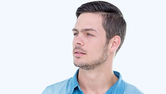 Jawline Beard with Simple Mustache