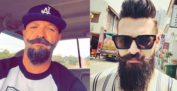 Handlebar Moustache Styles - handlebar mustache - curly mustache