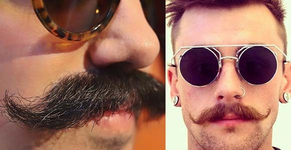 handlebar moustache style for young men