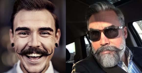 handlebar moustache style for men