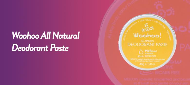 Woohoo All Natural Deodorant Paste